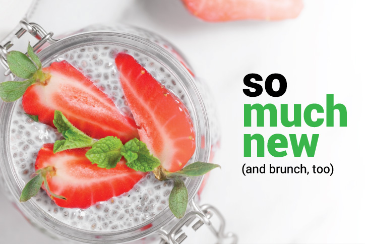 So much new, and brunch too banner