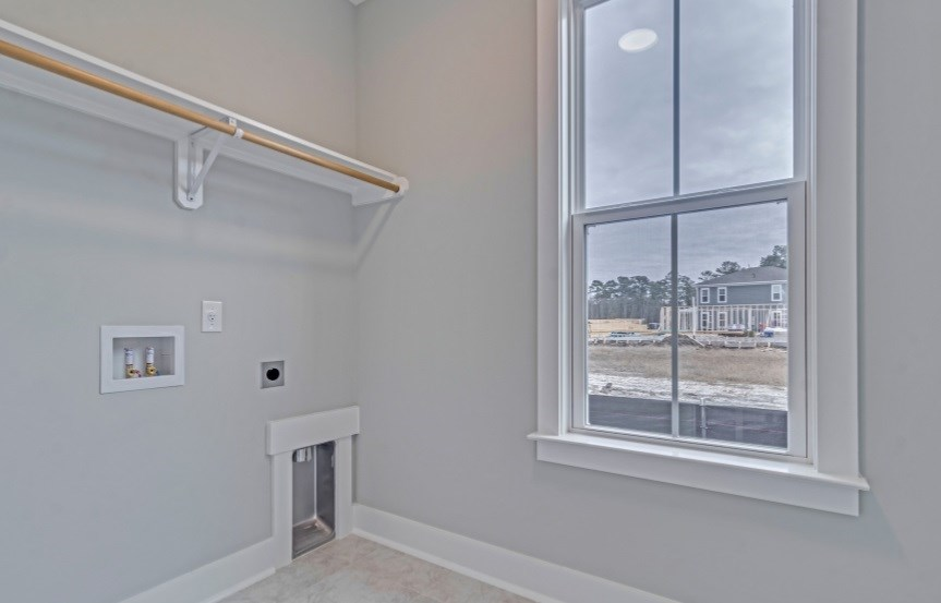 Homes By Dickerson move-in ready home laundry room