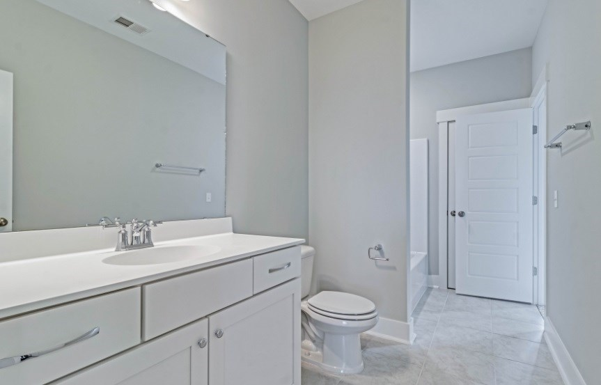 Homes By Dickerson move-in ready home spare bathroom