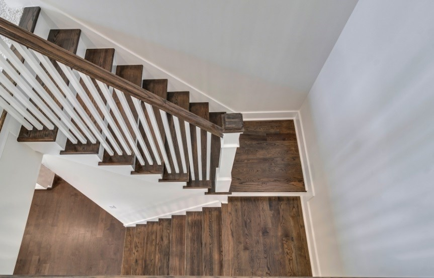 Homes By Dickerson move-in ready home staircase