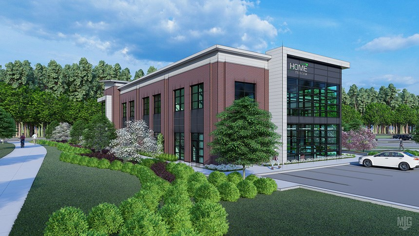 Rendering of Home Telecom building coming to CoOp@Nexton.