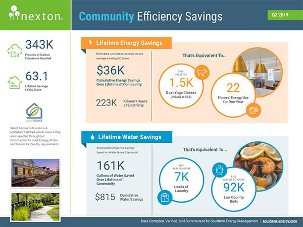 Infograph showing Nexton Community Energy report