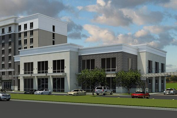 Rendering of Hilton Garden Inn, coming soon to Nexton.