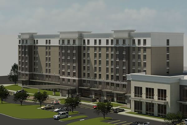 Rendering of Homewood Suites, coming soon to Nexton.
