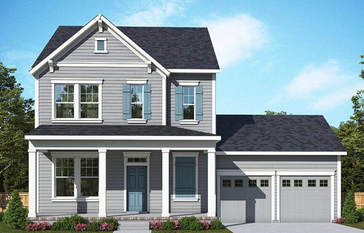 Rendering of exterior of David Weekley Indigo model home in Nexton Midtown.