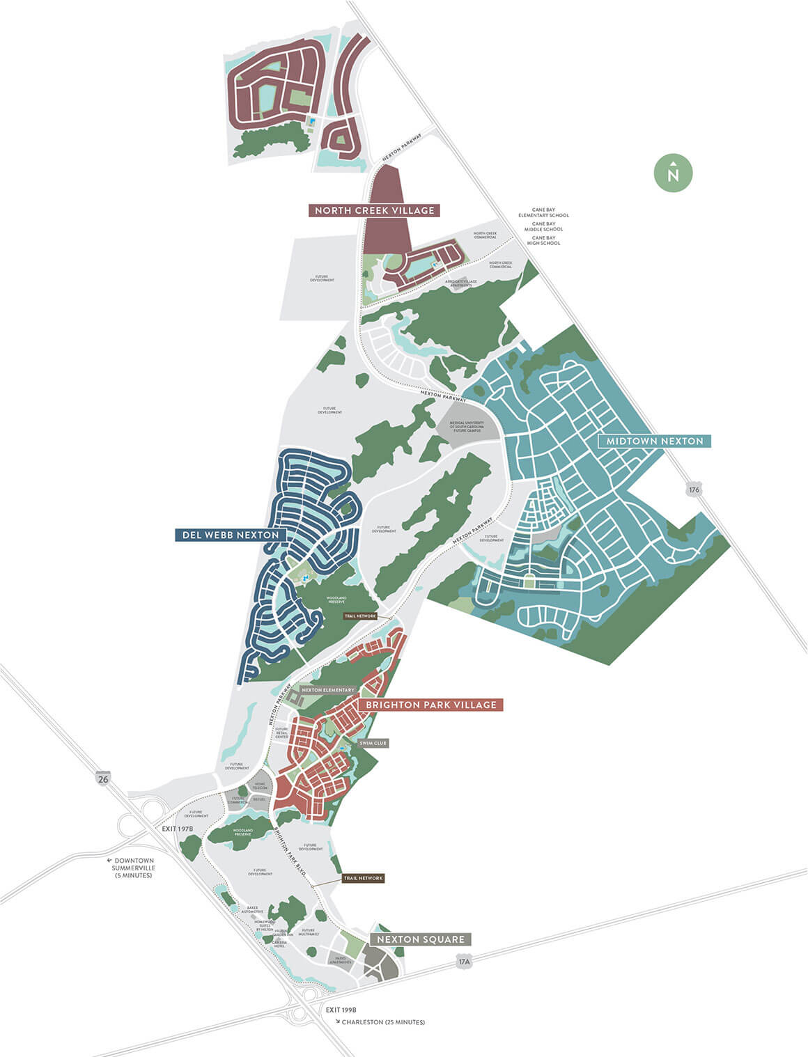 Nexton Neighborhood Map
