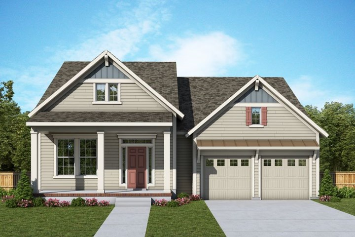 David Weekley Homes Lindley model home in Midtown, Nexton.
